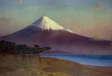 岡田三郎助《富士山(三保にて)》